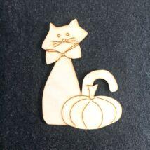 Halloweeni cica (15 cm-es)
