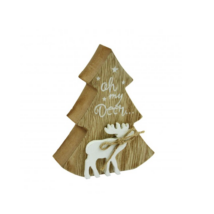 Fa fenyőfás asztaldísz (12 cm)