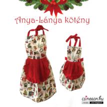 Karácsonyi anya-lánya kötények