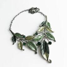 Antikolt, zöld leveles Bizsu nyaklánc