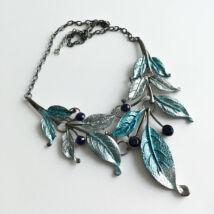 Antikolt lila kék Bizsu nyaklánc
