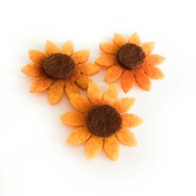 Poliészter filc virág öntapadós