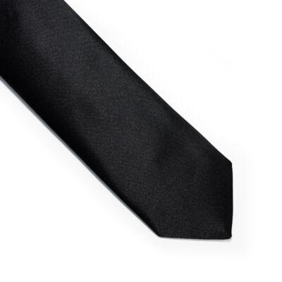 Fekete keskenyített nyakkendő
