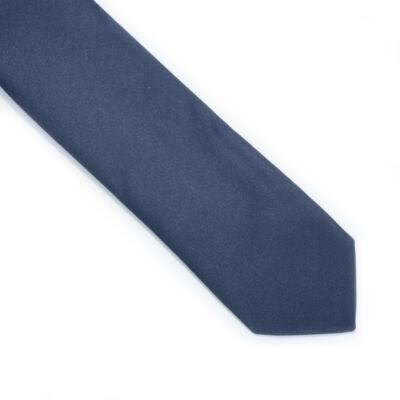 Sötétkék keskenyített nyakkendő