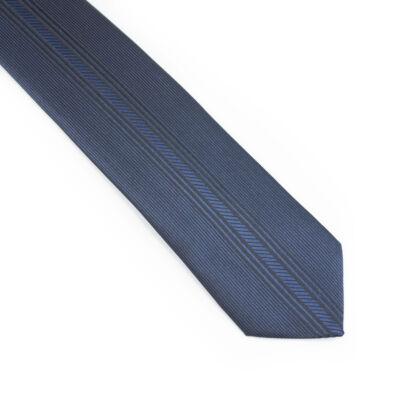 Kék fekete mintás nyakkendő